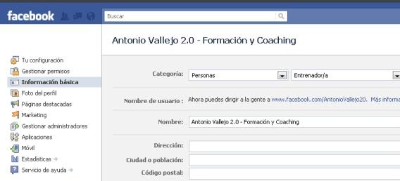 página web Español facial