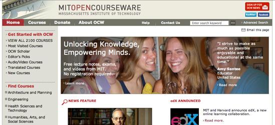 Portal de OpenCourseWare del MIT