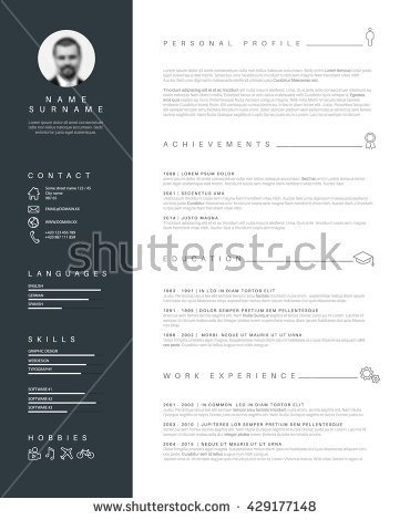 stock-vector-vector-minimalist-cv-resume-template-with-nice-typogrgaphy-design-429177148