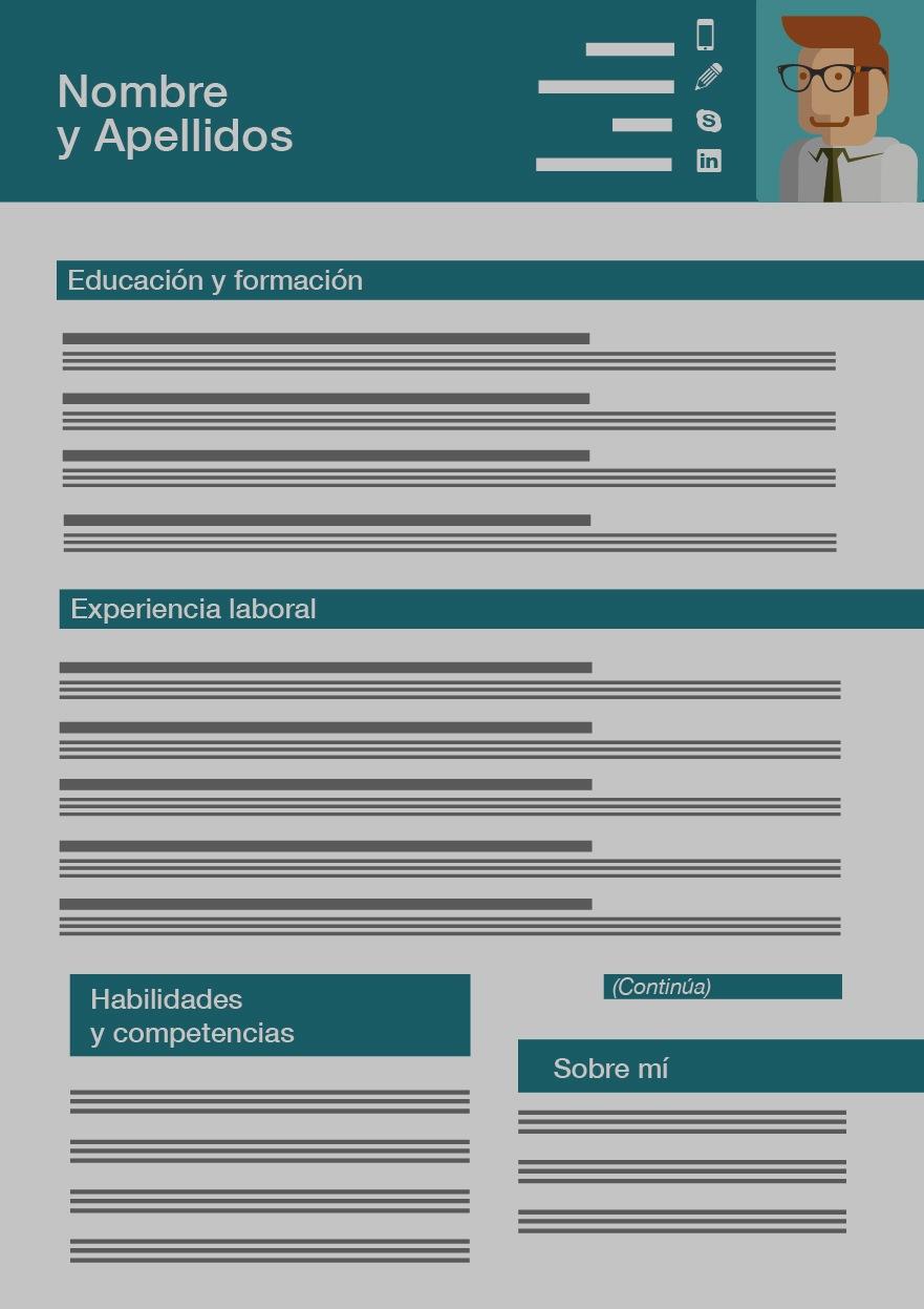 Inspírate en estas plantillas para hacer tu CV
