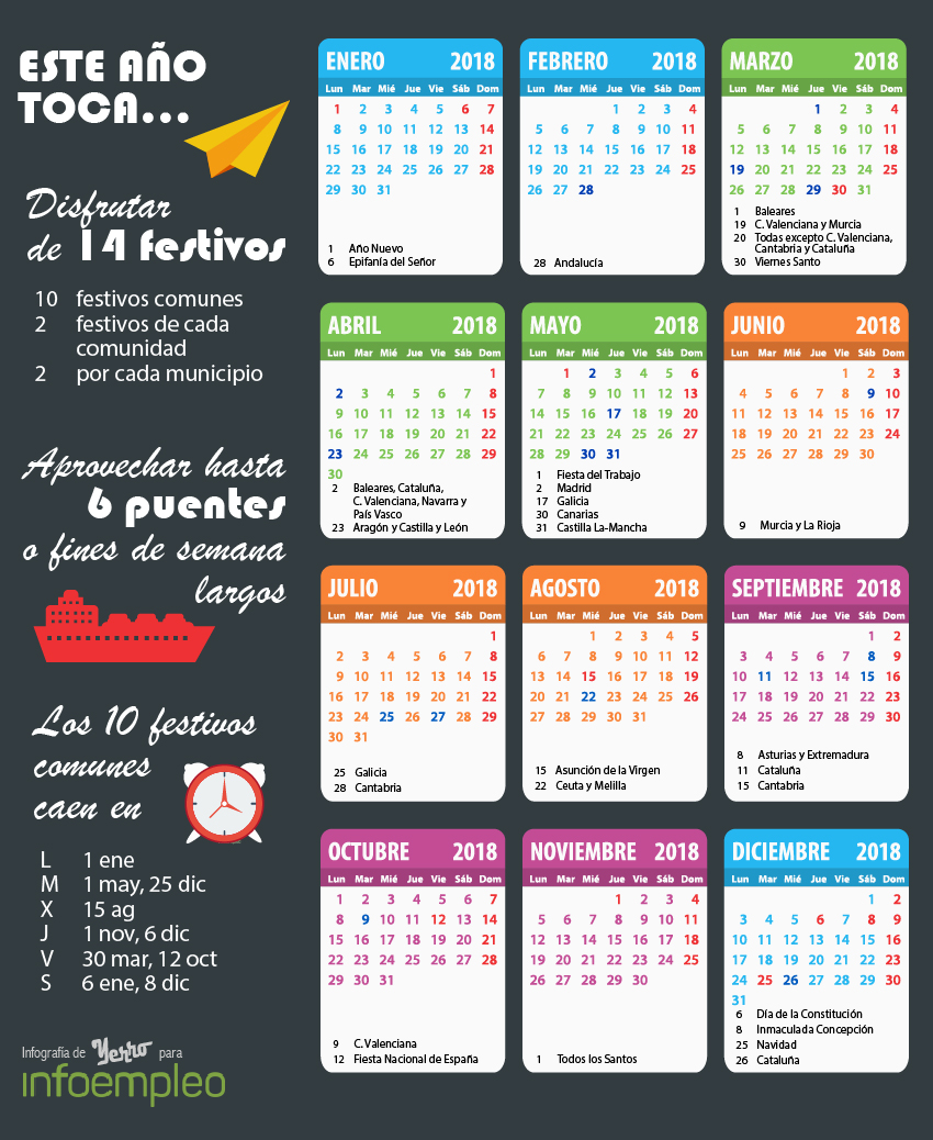 Calendario laboral España 2018
