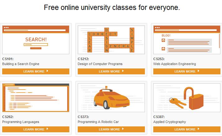 Portal de la universidad gratuita Udacity