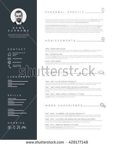 stock-vector-vector-minimalist-cv-resume-template-with-nice-typogrgaphy-design-429177148