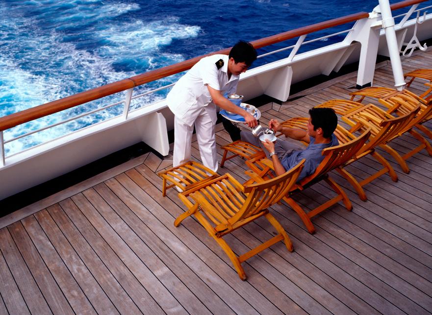 Camarero en crucero
